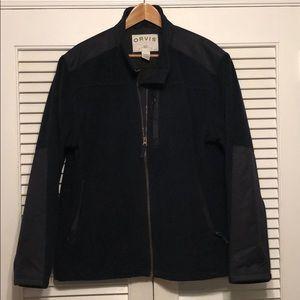 Orvis Heavy Fleece Zip Up Coat.